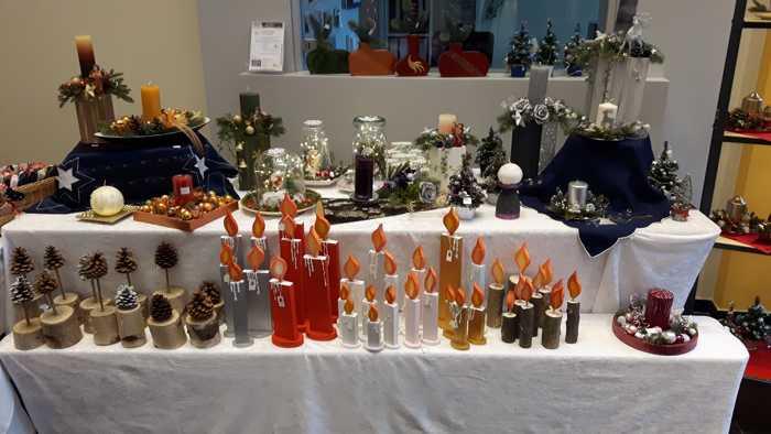 Kerzen - Weihnachtsbasar Quelle: Nachbarschaftsverein Pfingstweide Miteinander e. V