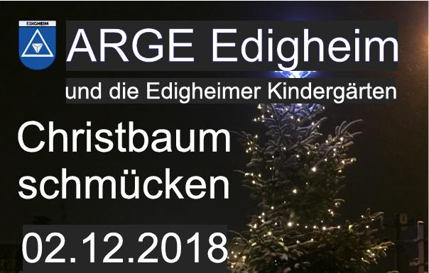 Plakat - Traditionelles Christbaumschmücken der Edigheimer Kindergärten