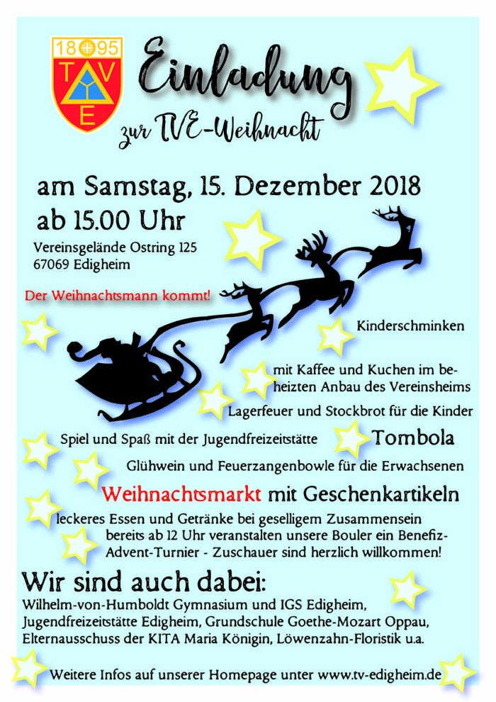 TVE Weihnachtsfeier Flyer 2018