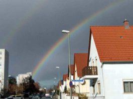 Regenbogen von Oggersheim aus gesehen. Foto: privat