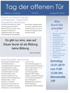 Friesenheim: Tag der offenen Tür in der Grund- und Realschule plus @ Grund- und Realschule plus Ludwigshafen- Friesenheim Kooperative Realschule