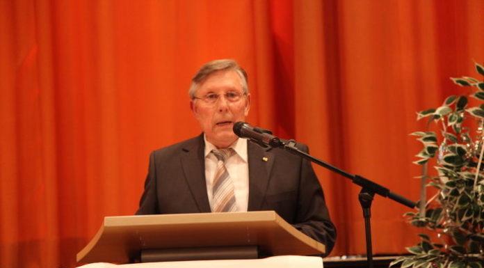 Der scheidende Ortsvorsteher Udo Scheuermann - Neujahrsansprache 2019