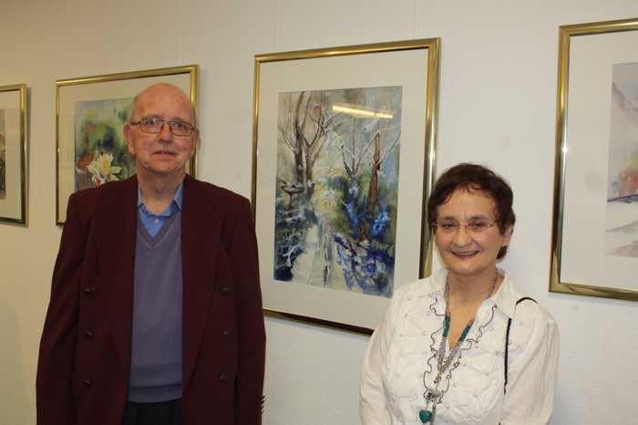 Anna Maria und Arnold Brunner bei der Ausstellungseröffnung