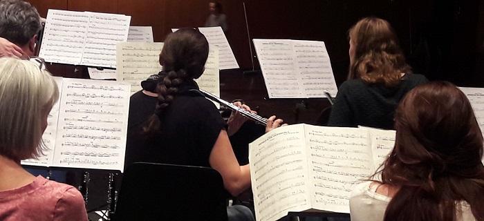 MBO: Probe für Uraufführung am Jahreszkonzert