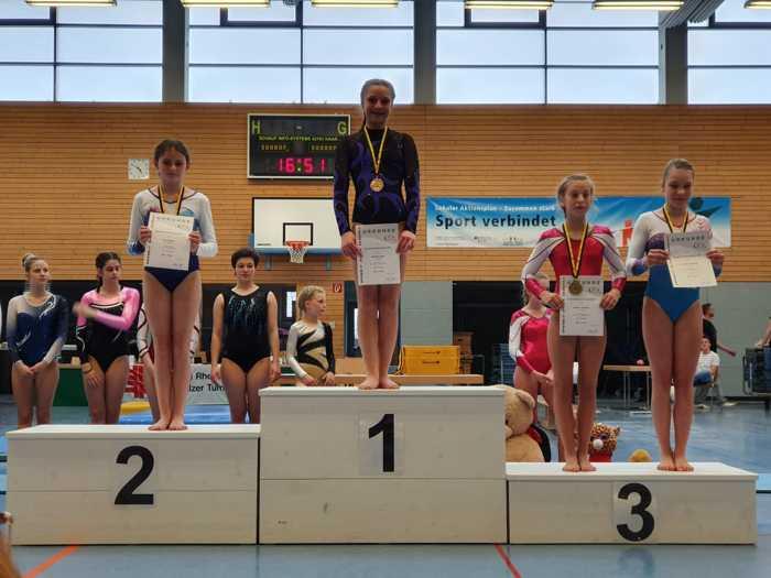 1. Platz: Michelle Zigler 2. Platz: Katharina Binzer 2. Platz: Lena Regner 3. Platz: Charlotte Theobald