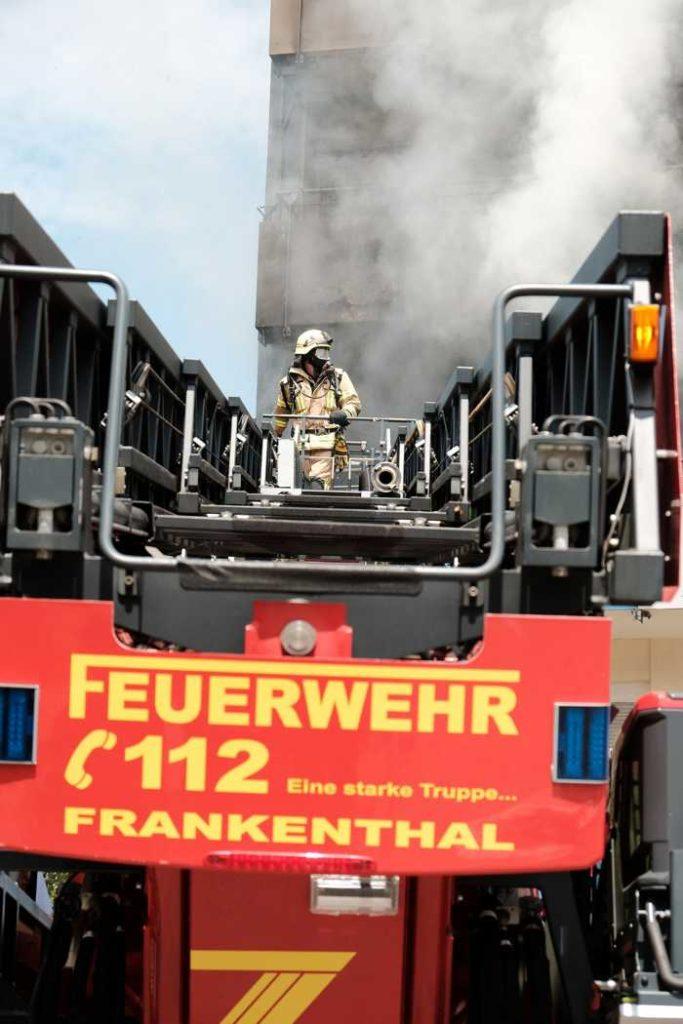 Wohnungsbrand - Einsatz für die Feuerwehr Frankenthal