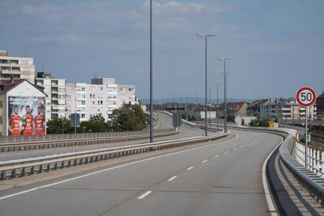 Die gesperrte Hochstrasse Süd (Foto: Holger Knecht)