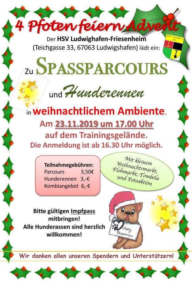 Adventsfeier des HSV Friesenheim @ Gelände des HSV Friesenheim