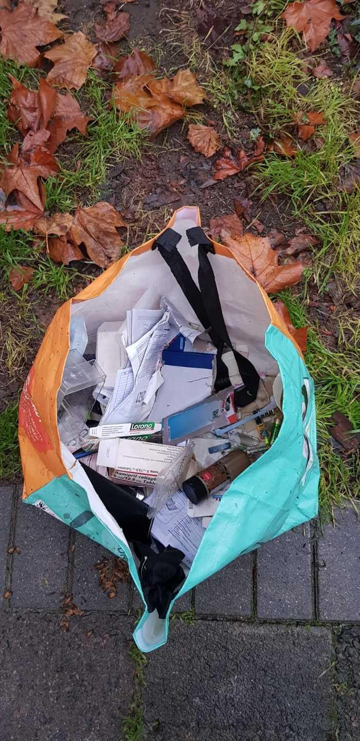 Müllentsorgung in der Parsevalstraße - Foro: Privat