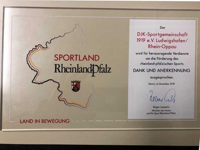 DJK Sportplakette des Bundespräsidenten