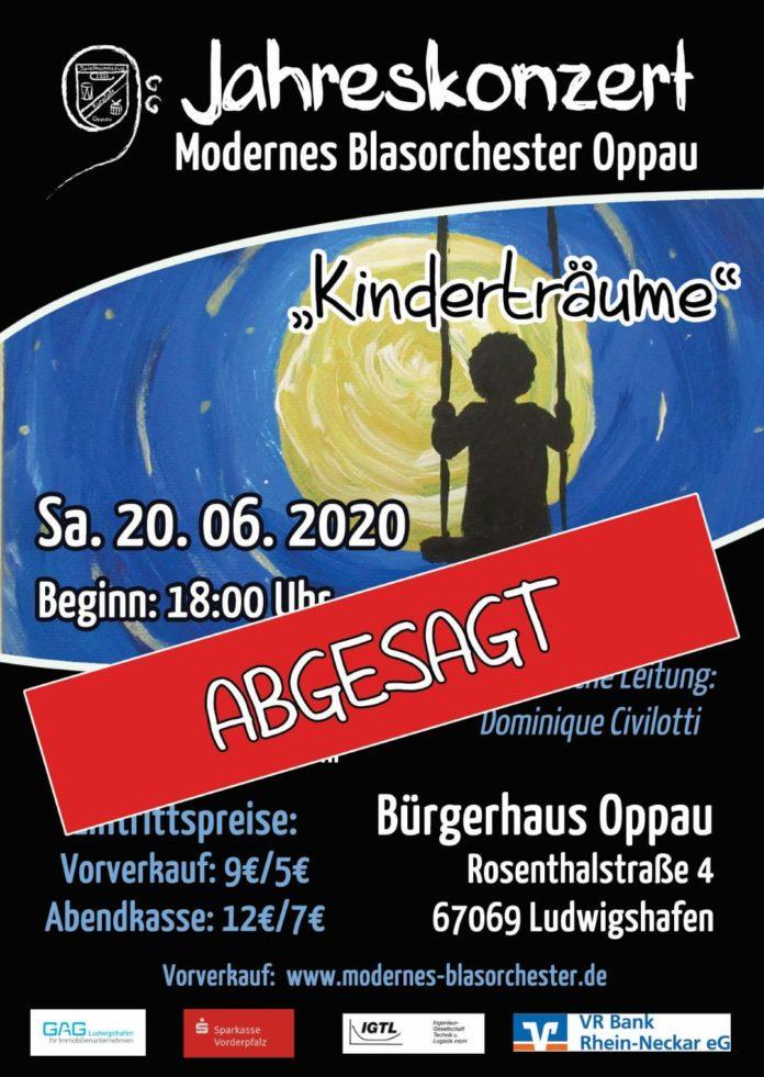 Abgesagt: Das Jahreskonzert des Modernen Blasorchesters Kurpfalz Oppau (MBO) entfällt leider dieses Jahr