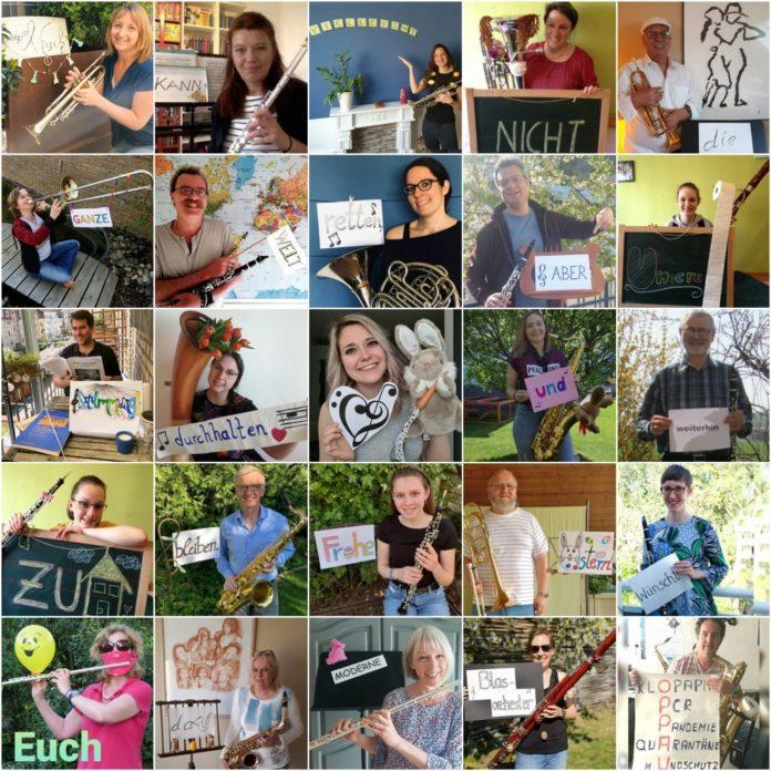 MBO Ostergrüße als Foto-Collage in Heimarbeit