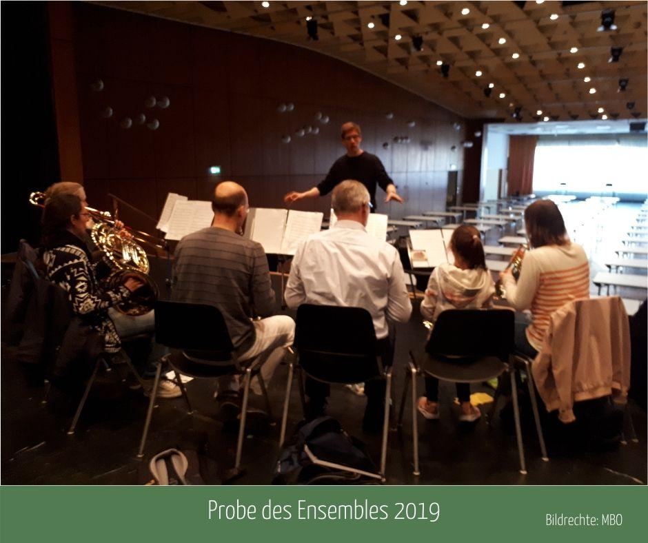 Ensemble-Probe im Bürgerhaus Oppau, 2019; Bildrechte: MBO