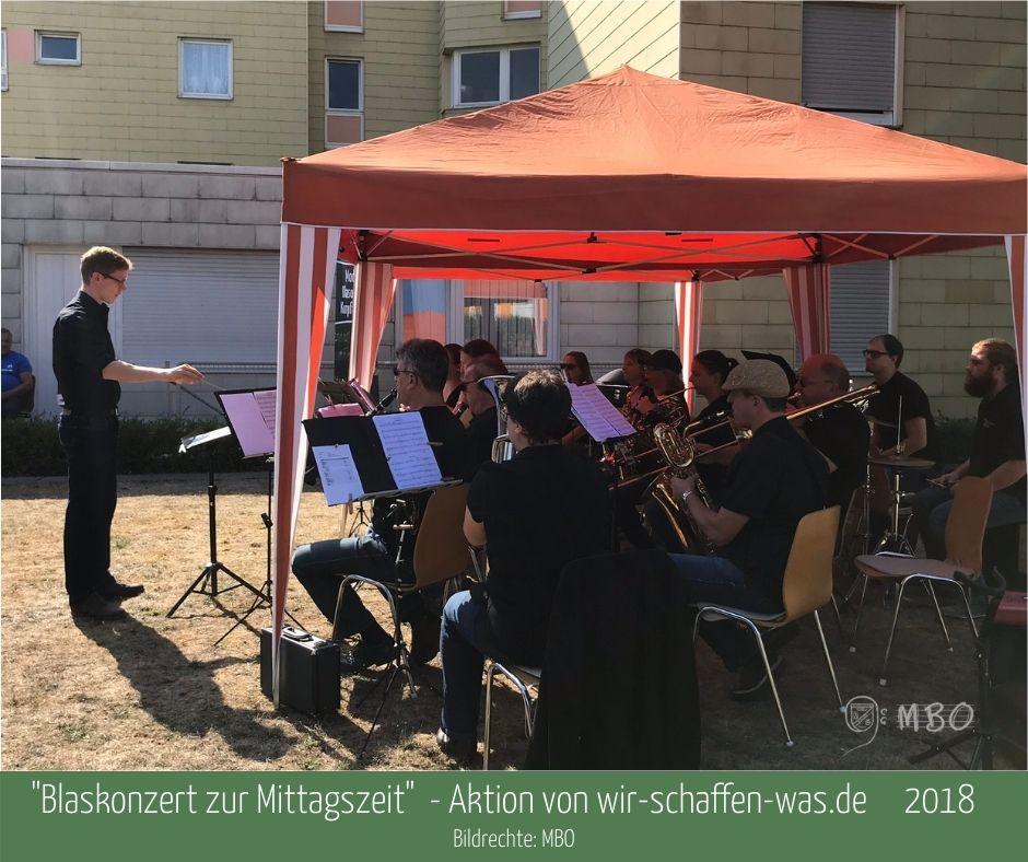 """""""Blaskonzert zur Mittagszeit"""" 2018; Bildrevhte MBO"""