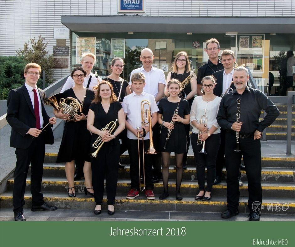 Beginner-Ensemble am Jahreskonzert 2018, Bildrechte: MBO